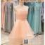รหัส ชุดราตรี : PF008 ชุดราตรียาว เดรสออกงาน ชุดไปงานแต่งงาน ชุดแซก สีชมพู หน้าสั้นหลังยาวสวยๆ ประดับโบว์ที่เอว หมาะสำหรับงานแต่งงาน งานกลางคืน กาล่าดินเนอร์ thumbnail 3