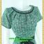 2999ชุดทํางาน เสื้อผ้าคนอ้วนสีเขียวลายใบบัวบกคอจีบทวิสต์กุ๊นดำสไตล์แอคทีฟ ผู้ดี เรียบร้อยสง่าสไตล์หวาน thumbnail 2