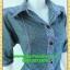 2350ชุดทํางาน เสื้อผ้าคนอ้วนปกเชิ๊ตกระดุมหน้าแขนยาวทรงเอเรียบเล่นลายปกแขนสาบ สไตล์เท่คล่องตัวกระเป๋าล้วงซ้ายขวา thumbnail 2