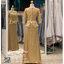 รหัส ชุดราตรี : PFL081 ชุดราตรียาวมีแขนตกแต่งด้วยลูกไม้งานสวย ชุดไปงานแต่งสีทอง เรียบหรู เหมาะสำหรับงานแต่งงาน งานกลางคืน กาล่าดินเนอร์ ชุดออกงาน ชุดไทยประยุกต์ thumbnail 2