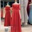 รหัส ชุดไปงานแต่งงาน : PF161 ชุดราตรียาว แบบมีแขน โอบไหล่ เปิดไหล่ สีแดง ผ้าไหมปักลูกไม้ สวยหรูดูดีแบบเจ้าหญิง ใส่ไปงานแต่งงานกลางคืน งานกาล่าดินเนอร์ ชุดงานเลี้ยง ชุดพิธีกร งานพรอม งานบายเนียร์ งานเดินพรหมแดง ถ่ายพรีเวดดิ้ง สวยมาก thumbnail 1