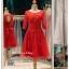 รหัส ชุดราตรีสั้น : BB067 ชุดแซก ชุดราตรี มีแขน สีแดง เหมาะใส่งานแต่งงาน สวย สง่า ดูดีแบบเจ้าหญิง ใส่เป็นชุดงานเช้า ชุดไปงานแต่งงาน งานกาล่าดินเนอร์ งานเลี้ยง งานพรอม งานรับกระบี่ thumbnail 1