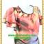 1873ชุดทํางาน เสื้อผ้าคนอ้วนลายวินเทจสีมพูทรงกระแทกเอวพรางหน้าท้องและต้นขาระบายชาย2ชั้น แขนระบายกุ๊นดำเพิ่มความคมชัดและความสวยงาม thumbnail 2