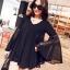 เสื้อแฟชั่นผู้หญิง คอวีแขนบานผ้าชีฟองสวยหรูสไตล์เกาหลี รหัส 1528 thumbnail 1
