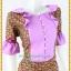 3193เสื้อผ้าคนอ้วนผ้าไทยสีม่วงทอลายสองหน้ารีดกาวด้านในเพิ่มความเนี๊ยบให้ชุดอยู่ทรงสวยสวมใส่หรูมั่นใจ thumbnail 2