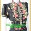 2904เสื้อผ้าคนอ้วน เสื้อผ้าแฟชั่นคอจีนลายเชิงผ้าไหมอิตาลี่ ระบายอกโค้งกระดุมหน้า โชว์ลวดลายการวางผ้าแต่งลายอย่างมีเอกลักษณ์มีซับใน thumbnail 2