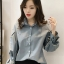 เสื้อแฟชั่นคอปก สไตล์เกาหลี-1596-สีฟ้าน้ำทะเล thumbnail 1