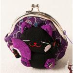 กระเป๋าแมวเนโกะสีม่วง