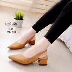 รองเท้าคัชชูดำ #คัชชูใส่ทำงาน เรียบๆ ยกมือแล้วกดสั่งไวๆงานขายดีแนะนำ [สีน้ำตาล ]