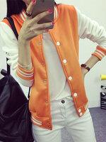 เสื้อคลุมแฟชั่น Classic stlye สวยปนเท่ห์สไตล์เกาหลี-1662-สีส้ม