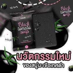 MOA Black tomato soap โมเอะ สบู่มะเขือเทศดำ