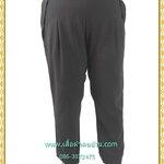 3254กางเกงขายาวคนอ้วนไซส์ใหญ่มีกระเป๋าล้วงซ้ายขวาแต่งจีบด้านหน้าเอวด้านหลังยืดได้38-42สะโพก40-44ยาว40
