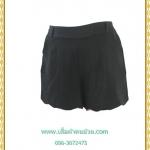 3265กางเกงขาสั้นคนอ้วนปลายขาหยักมีกระเป๋าด้านหลังยางยืดเอว36-42สะโพก40-45