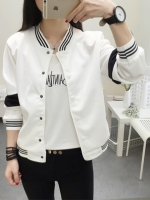 เสื้อคลุมแฟชั่น ใส่่ได้ทุกฤดูสวยเท่ห์สไตล์เกาหลี-1560-สีขาว