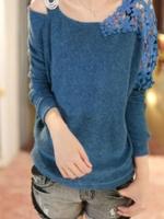 1161-เสื้อไหมพรมสีน้ำเงิน