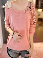 1161-เสื้อไหมพรมสีชมพู