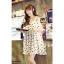 ชุดเดรสแฟชั่นกึ่งเสื้อ ผ้าชีฟองสวยหวานสไตล์เกาหลี มี 2 สี(ดำ/ขาว)-1033 thumbnail 3
