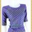 3185เสื้อผ้าคนอ้วนผ้าไทยสีม่วงคอกลมแขนยาวแต่งลายสลับพื้นปรับสรีระเพิ่มส่วนเว้าโค้งเติมความมั่นใจ สไตล์หรูหรา สง่างาม thumbnail 2