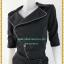 3206ชุดเดรสทำงานสีดำ เสื้อผ้าคนอ้วนดำคอปกกุ๊นขอบสุดเก๋หรูดูสุภาพแขนยาวมีขอบในมาดเนี๊ยบเปรี้ยวมั่นใจในชุดเข้ารูปทรงเพนซิล thumbnail 3