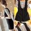 ชุดเอี๊ยมผ้า ชุดเซท 2 ชิ้นมาพร้อมเสื้อยืด-1126-สีดำ thumbnail 1