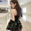 ชุดเดรสแฟชั่นเกาะอก ใส่ออกงานสวยๆ น่ารักๆสไตล์เกาหลี thumbnail 2