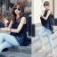 เสื้อแฟชั่นเกาหลีแขนกุดแบบสวยหรูดูดีมี 2 ไซส์ M,L thumbnail 3
