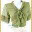 3122ชุดทํางาน เสื้อผ้าคนอ้วนชีฟองสีเขียวแขน2ชั้นสไตล์หรูเบาสบายรับซัมเมอร์ คอผูกโบสไตล์สุภาพ เรียบร้อยกระโปรงลูกไม้ มีซับในสีสวยหวาน thumbnail 2