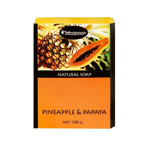 Nongnaka Pineapple & Papaya Soap น้องนะคะ พายแอปเปิ้ล แอนด์ พาพาย่า โซพ