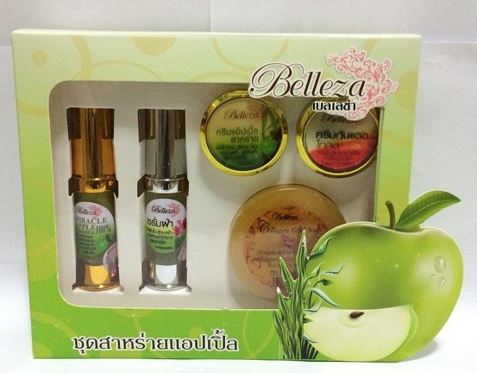 Belleza Spirulina Apple Whitening Set เบลเลซ่า ชุดครีมสาหร่ายแอปเปิ้ล