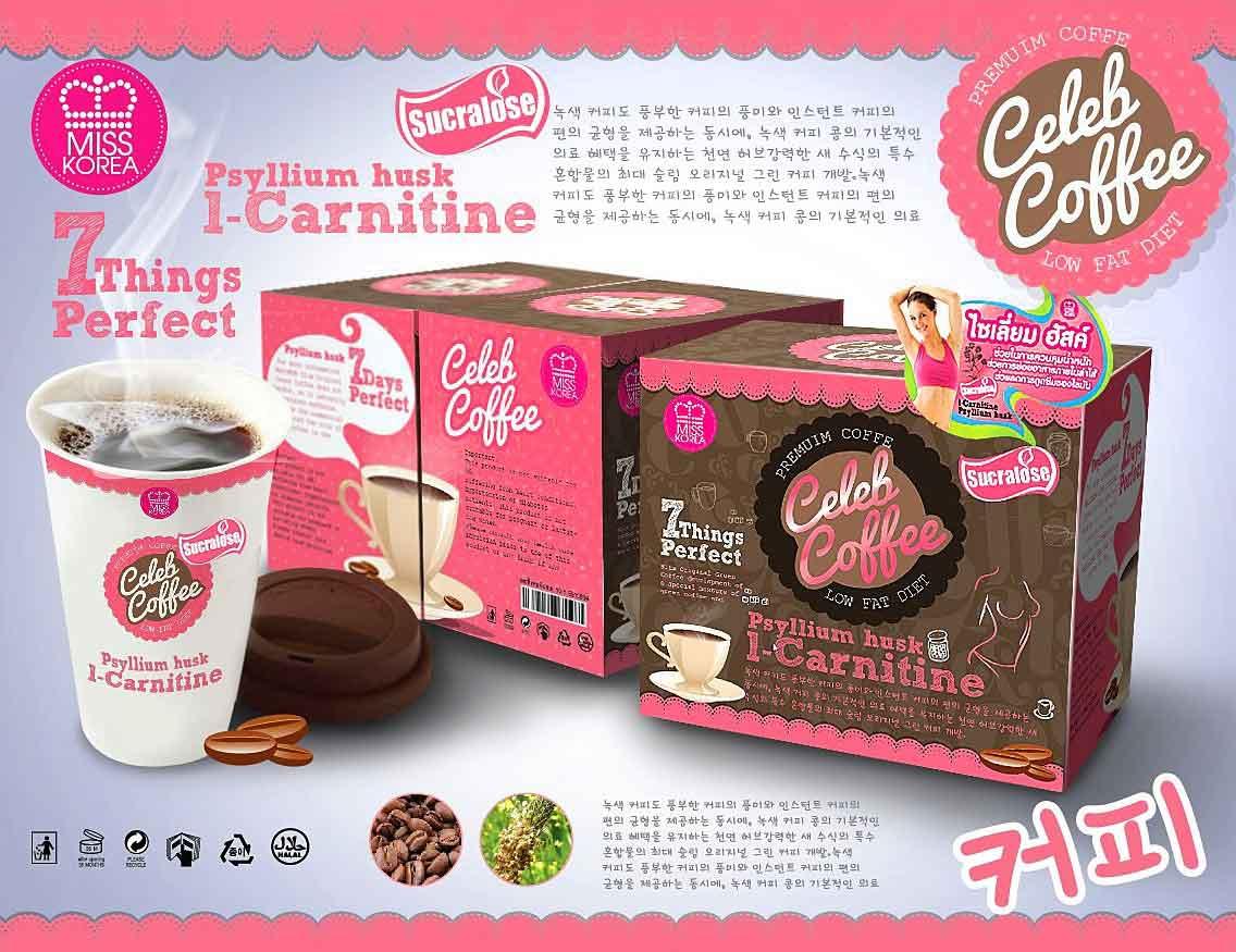 MISS KOREA Celeb Coffee มิสโคเรีย เซเลบ คอฟฟี่ กาแฟลดน้ำหนัก
