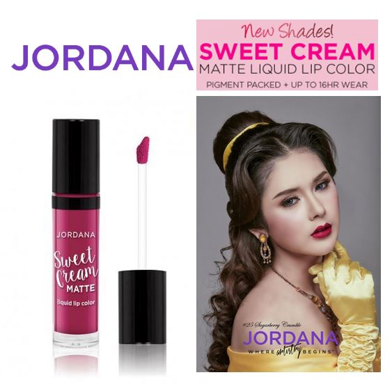 Jordana Sweet Cream Matte Liquid Lip Color 25 Sugarberry Crumble คอลเล็คชั่น