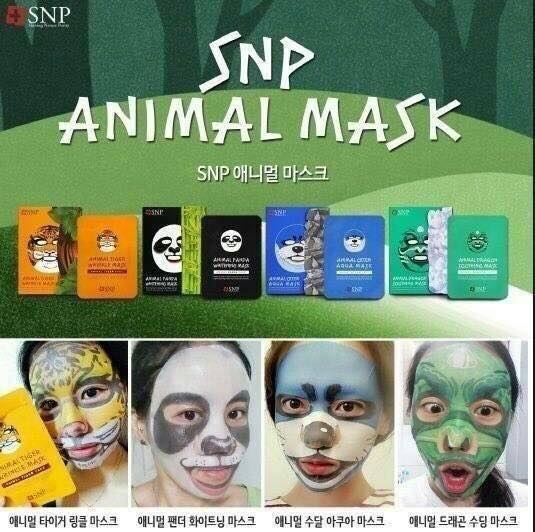 แผ่นมาร์กหน้าลายสัตว์ SNP ANIMAL MASK