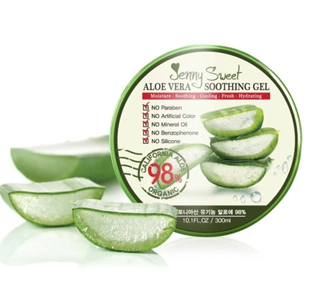 Jenny Sweet Aloe Vera Soothing Gel สกัดจากว่านหางจระเข้ถึง 98%
