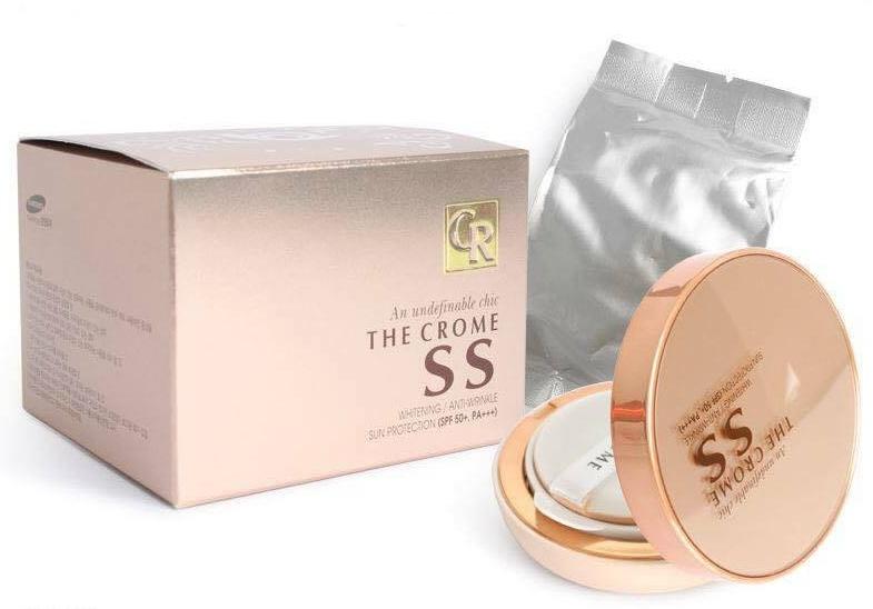 The Crome SS Cushion SPF50+ PA+++ ซุปเปอร์แป้งน้ำเกาหลี หน้าเนียนใส ฉ่ำวาว ตัวเดียวครบ ไม่ต้องพึ่งรองพื้น