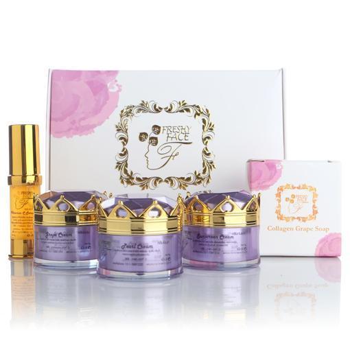 Grape Gold Set by Freshy Face เซทองุ่นทองคำ หน้าขาวใส ลดสิว ฝ้า กระ
